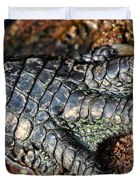 Gator Manicure Duvet Cover by Karol  Livote
