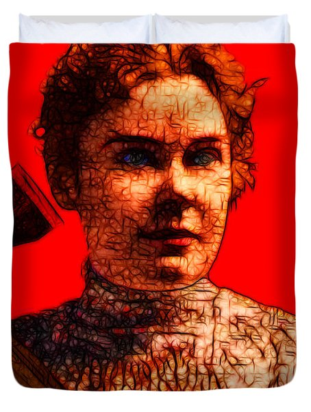 Gave Her Father Forty Whacks - Red Duvet Cover by Wingsdomain Art and Photography