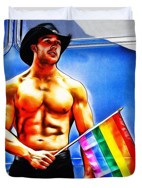 Gay Pride Duvet Cover by Nishanth Gopinathan