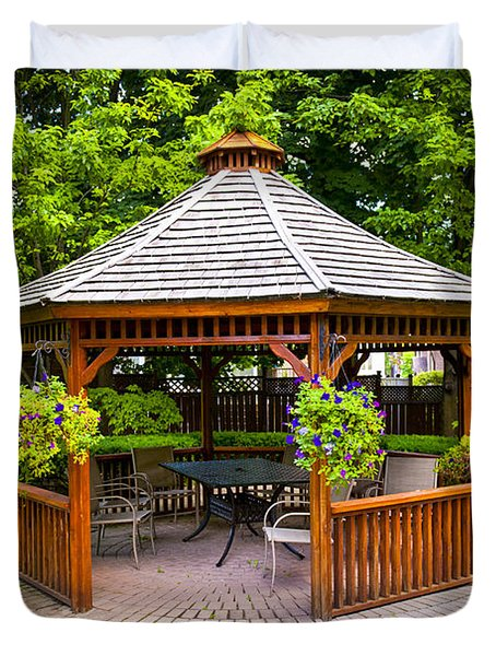 Gazebo  Duvet Cover by Elena Elisseeva