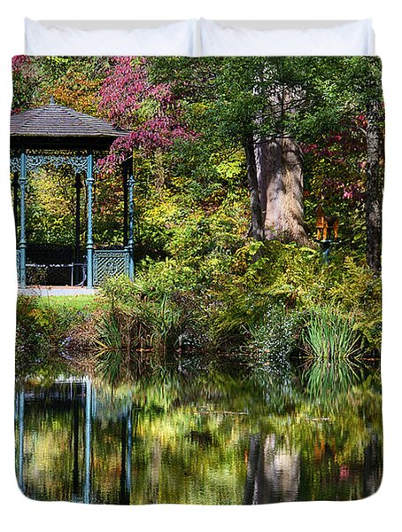 Gazebo Retreat Duvet Cover by John Greim