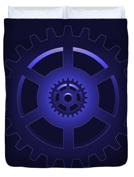 Gear - Cog Wheel Duvet Cover by Michal Boubin
