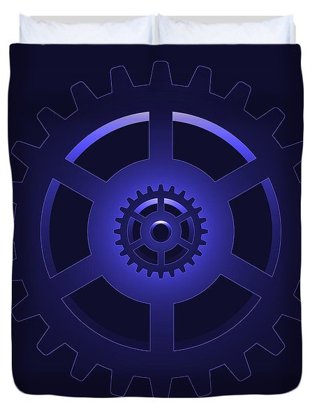 gear - cog wheel Duvet Cover by Michal Boubin