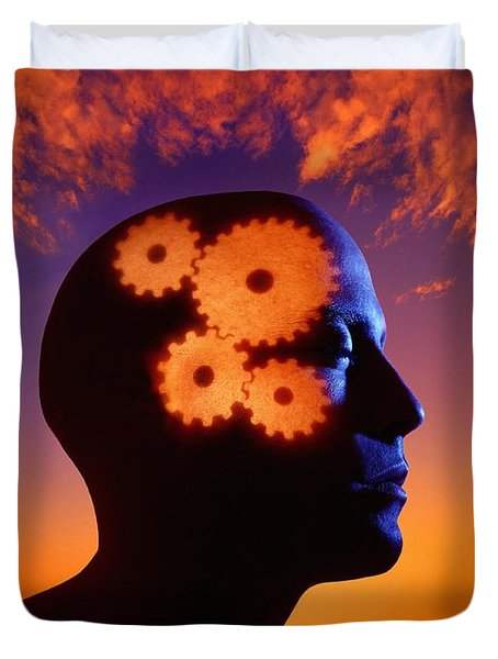 Gears Going In The Mind Duvet Cover by Don Hammond
