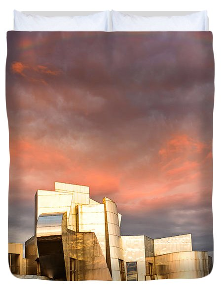 Gehry Rainbow Duvet Cover by Joe Mamer