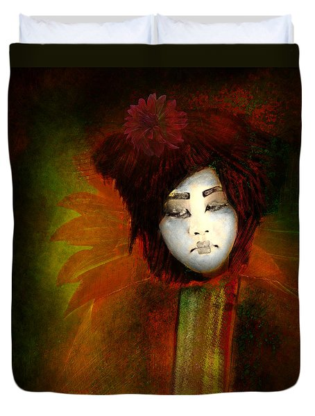 Geisha5 - Geisha Series Duvet Cover by Jeff Burgess