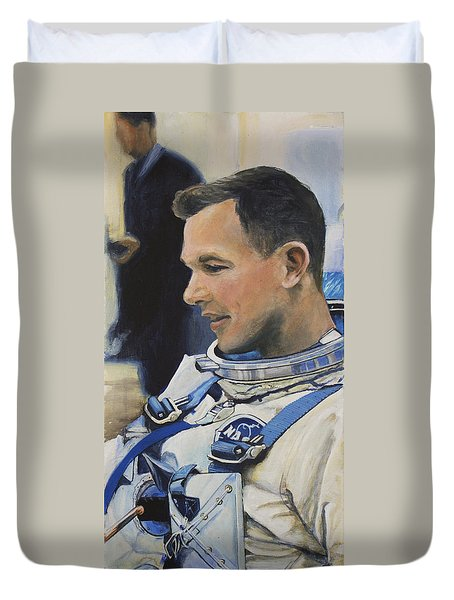 Gemini Viii Dave Scott Duvet Cover by Simon Kregar