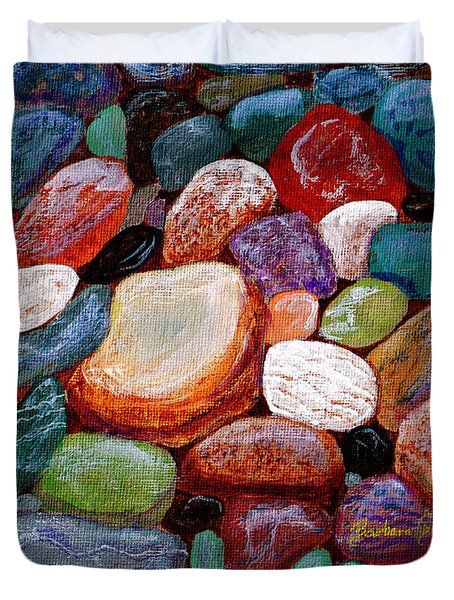 Gemstones Duvet Cover by Barbara Griffin