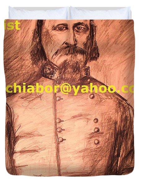General Pickett Confederate  Duvet Cover by Eric  Schiabor