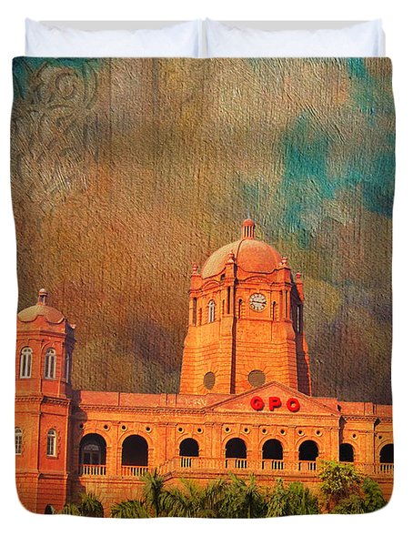 General Post Office Lahore Duvet Cover by Catf