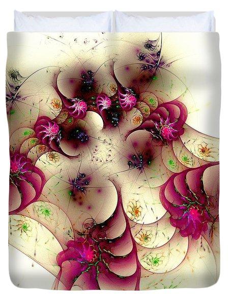 Gentle Pink Duvet Cover by Anastasiya Malakhova