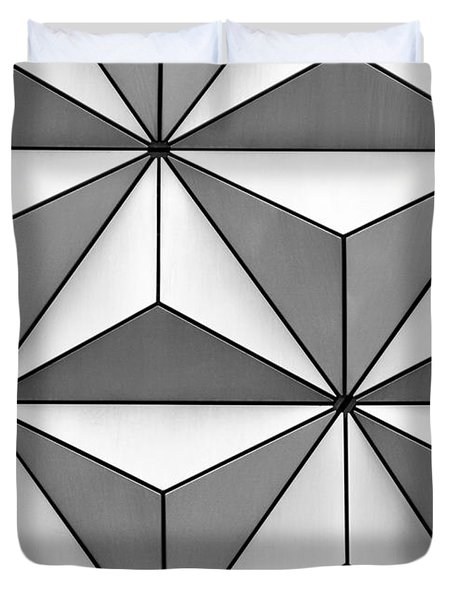 Geodesic Pyramids Duvet Cover by Sabrina L Ryan