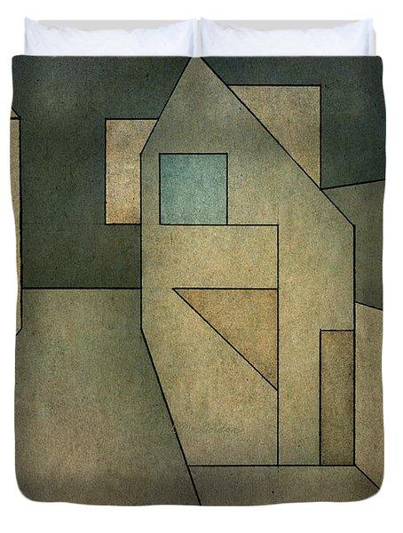 Geometric Abstraction II Duvet Cover by David Gordon