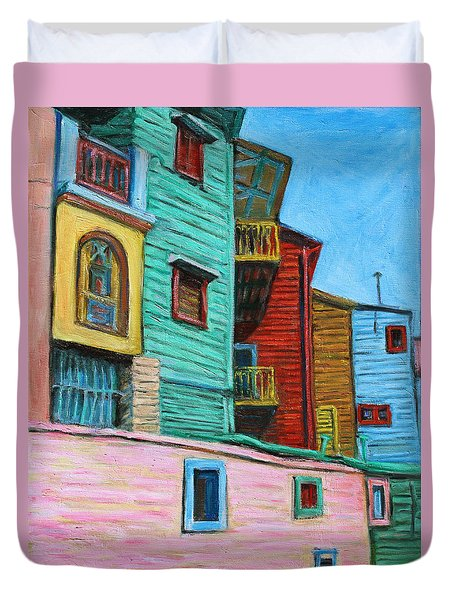 Geometric Colours II Duvet Cover by Xueling Zou