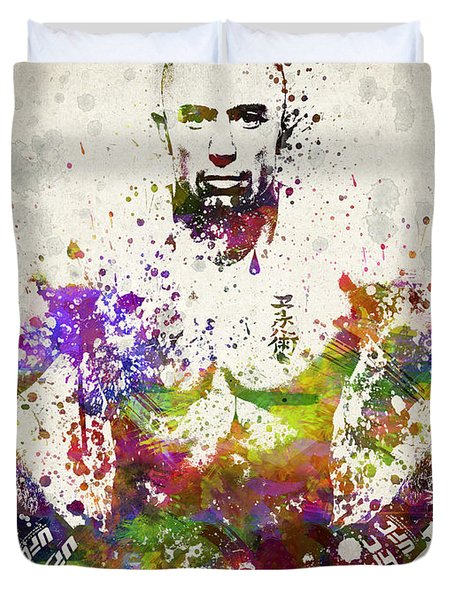 Georges St-Pierre Duvet Cover by Aged Pixel