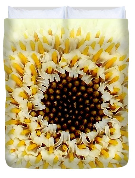 Gerbera Closeup Duvet Cover by The Creative Minds Art and Photography