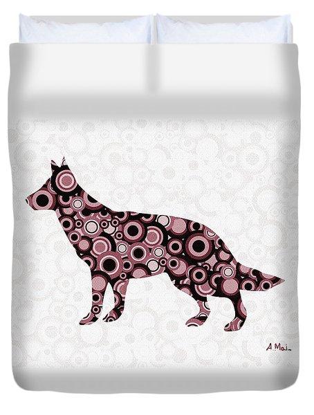 German Shepherd - Animal Art Duvet Cover by Anastasiya Malakhova