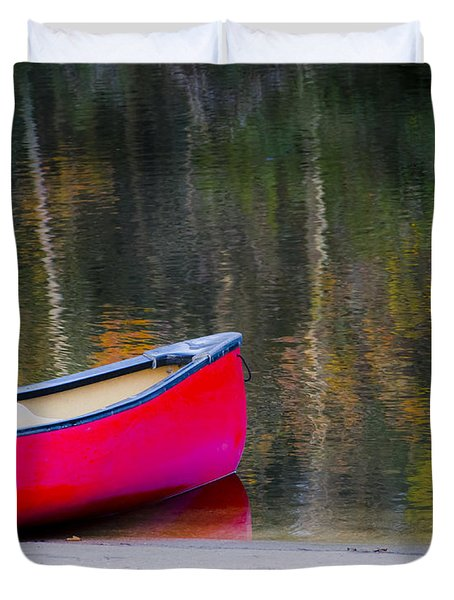 Getaway Canoe Duvet Cover by Carolyn Marshall