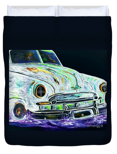 Ghost Car Duvet Cover by Eloise Schneider