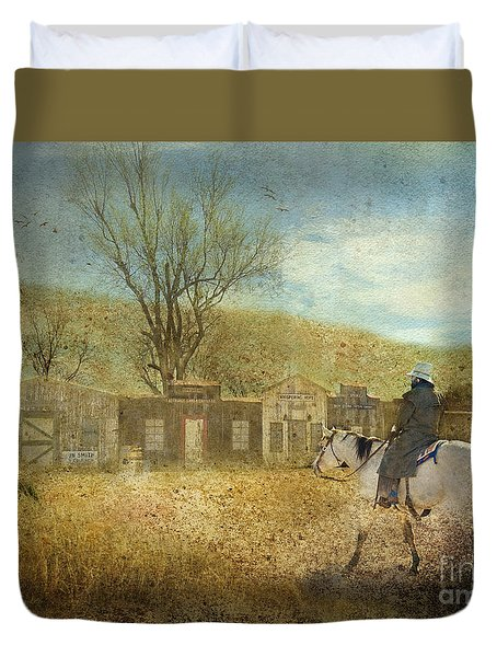 Ghost Town #1 Duvet Cover by Betty LaRue