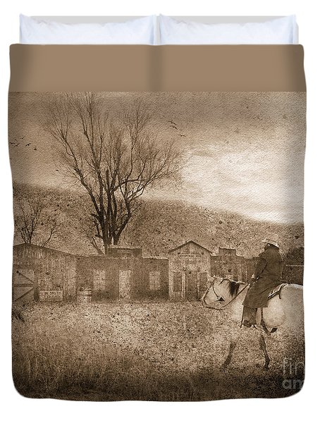 Ghost Town #2 Duvet Cover by Betty LaRue