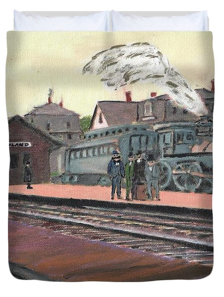 Ghost Train Duvet Cover by Cliff Wilson