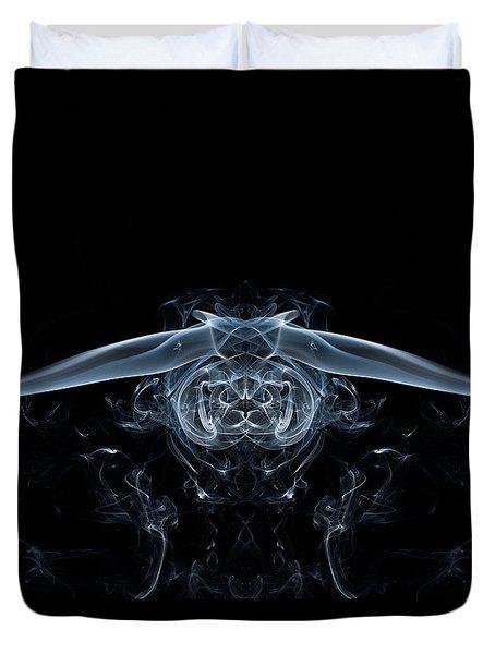 Ghostly Owl Duvet Cover by Steve Purnell