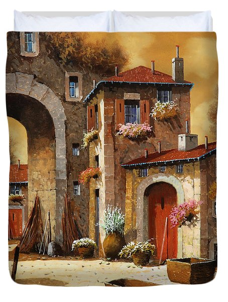 giallo Duvet Cover by Guido Borelli