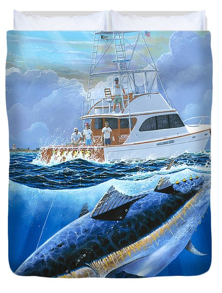 Giant Bluefin Off00130 Duvet Cover by Carey Chen