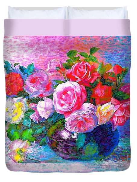 Gift of Roses Duvet Cover by Jane Small