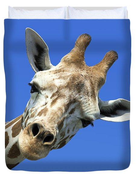 Giraffe Duvet Cover by John Greim