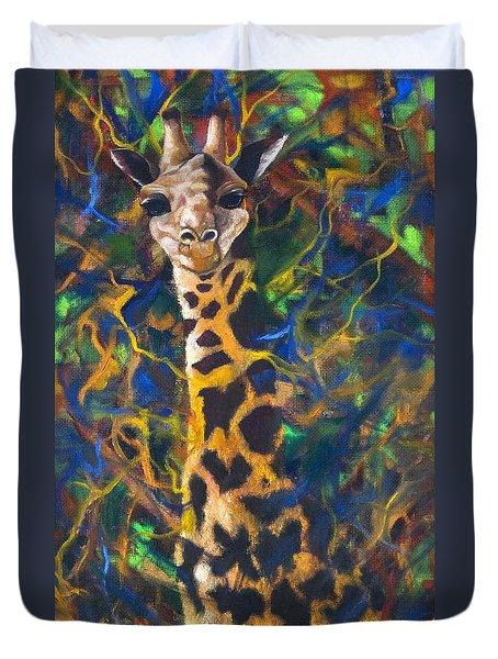 Giraffe Duvet Cover by Kd Neeley