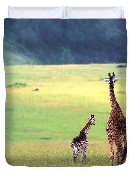 Giraffe Duvet Cover by Sebastian Musial