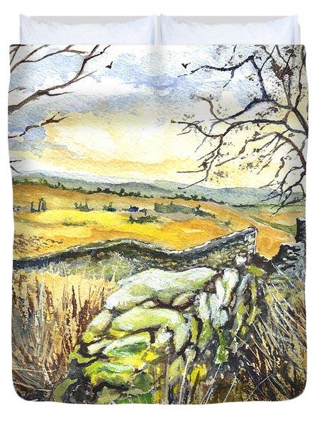 Gisburn Forest Lancashire Uk Duvet Cover by Carol Wisniewski