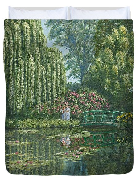 Giverny Reflections Duvet Cover by Richard Harpum