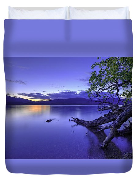 Glacier Blue Duvet Cover by Chad Dutson
