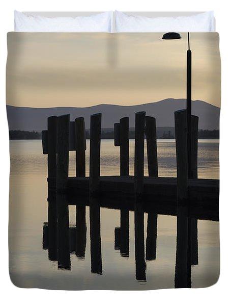 Glendale Docks No. 1 Duvet Cover by David Gordon