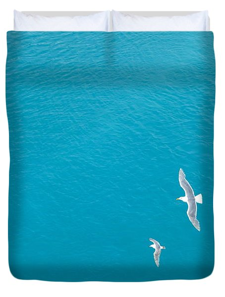 Gliding Seagulls Duvet Cover by Jacqueline Athmann