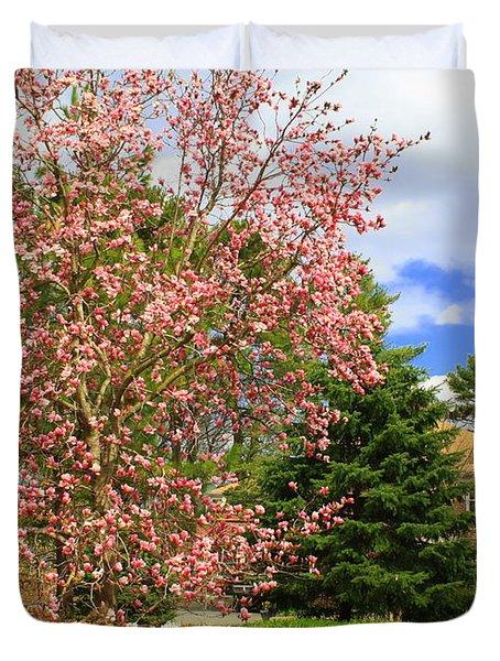 Glimpses Of Spring Duvet Cover by Dora Sofia Caputo Photographic Art and Design