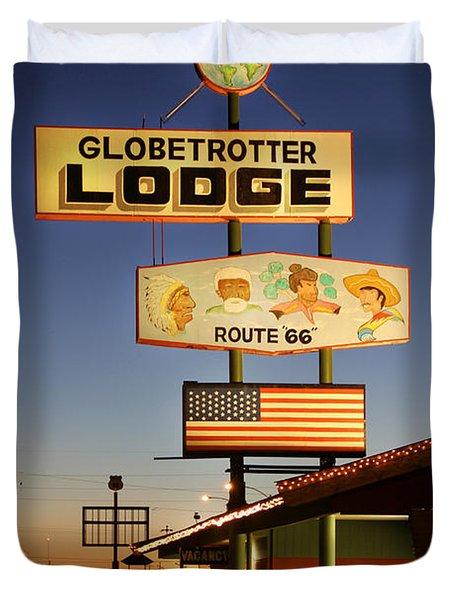 Globetrotter Lodge - Holbrook Duvet Cover by Mike McGlothlen