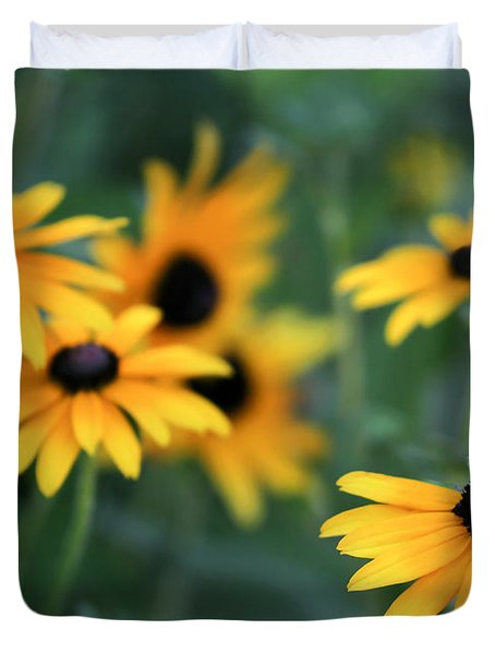 Glorious Garden of Black Eyed Susans Duvet Cover by Sabrina L Ryan