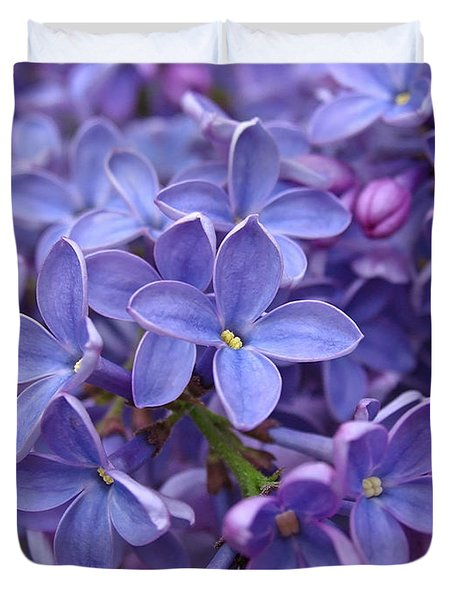 Glorious Lilac Bloom Duvet Cover by Juergen Roth