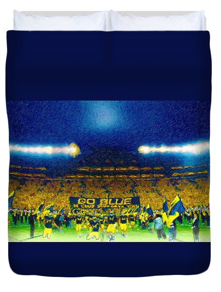 Glory At The Big House Duvet Cover by John Farr