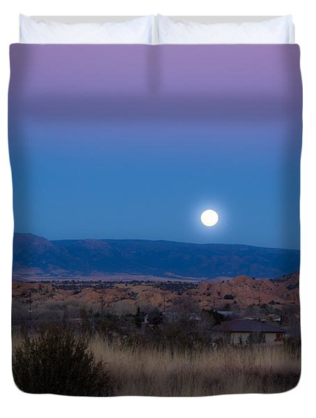 Glowing Full Moon Duvet Cover by Phyllis Bradd