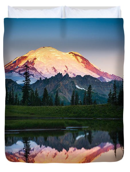 Glowing Peak Duvet Cover by Inge Johnsson