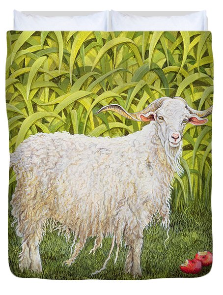 Goat Duvet Cover by Ditz