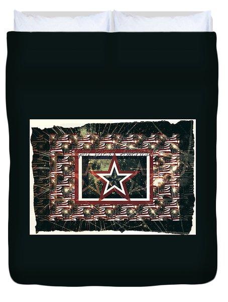 God Bless America Duvet Cover by Sherry Flaker