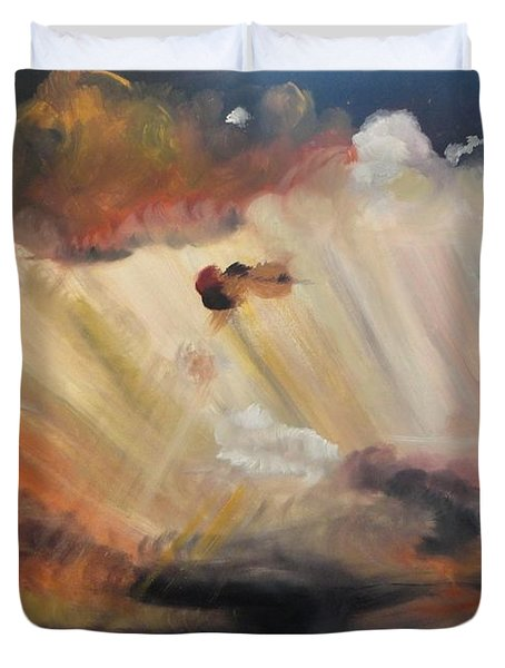 God Is Truly Mighty Duvet Cover by PainterArtist FIN