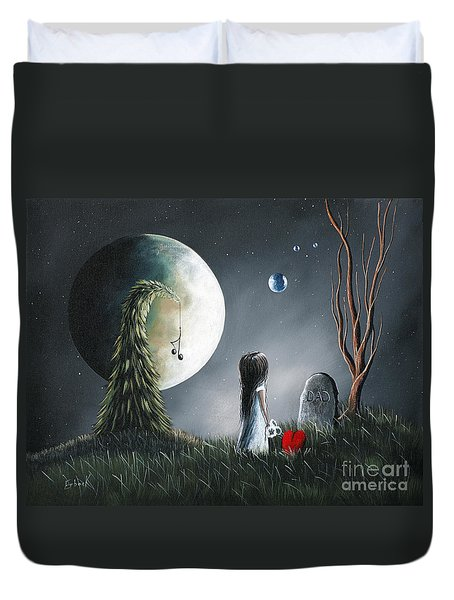 God Must Need You More Than We Do by Shawna Erback Duvet Cover by Shawna Erback