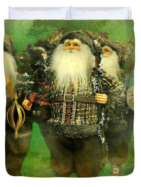 God Rest Ye Merry Gentlemen Duvet Cover by Diana Angstadt